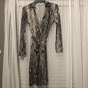 BOGO - DVF Amelia Snake Silk Wrap Dress